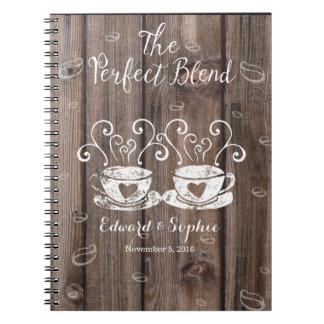 planeamiento de la novia del libro del spiral notebook