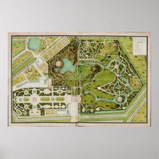 Planee a du jardin y castillo francés de la Reine Posters
