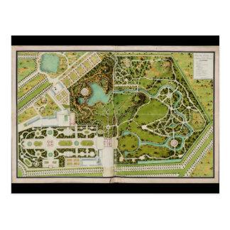 Planee a du jardin y castillo francés de la Reine Tarjetas Postales