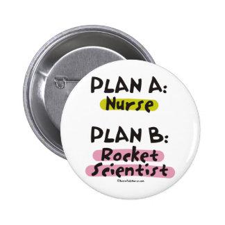 Planee a una enfermera - científico del plan B Roc Pin Redondo De 2 Pulgadas