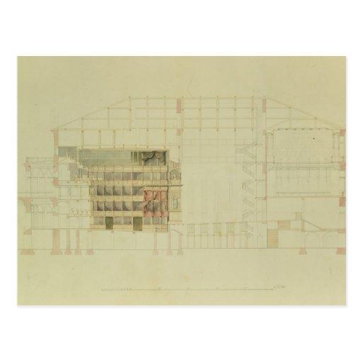 Planee para el teatro real de Dresden, c.1838 Postal