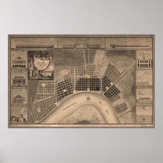 Planee para la ciudad, New Orleans, 1817 Poster