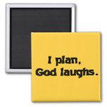 Planeo risas de dios imán de frigorifico