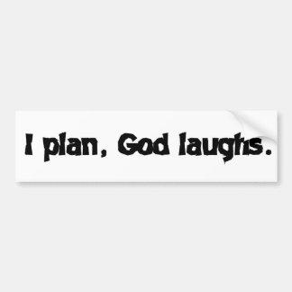 Planeo risas de dios pegatina para auto