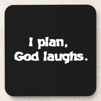 Planeo risas de dios posavasos de bebida
