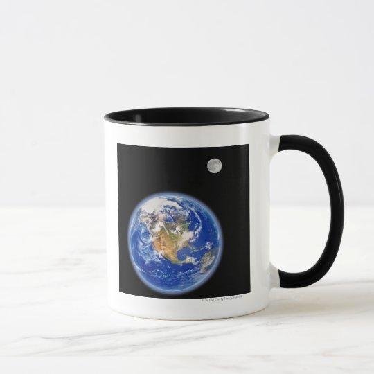 Planer Earth and Moon Mug