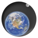 Planer Earth and Moon Party Plates