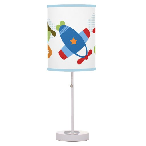Planes Airplanes Taking Flight Nursery Lamp