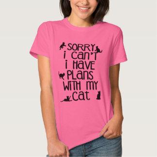 Planes con mi gato playeras