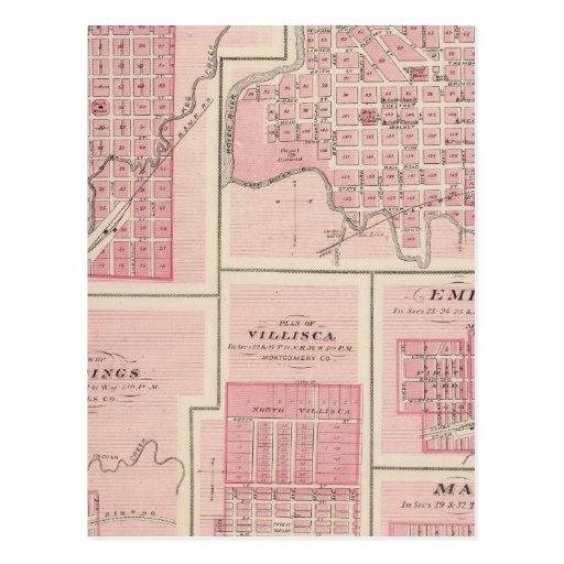Planes de Glenwood, Denison, Hastings Postales