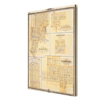 Planes de Hamburgo, Sidney, Farragut Impresión En Tela