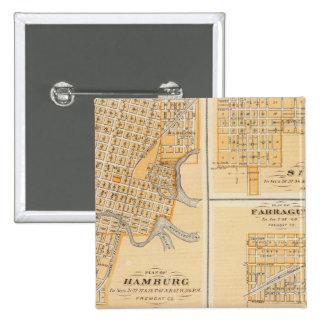 Planes de Hamburgo, Sidney, Farragut Pin Cuadrada 5 Cm