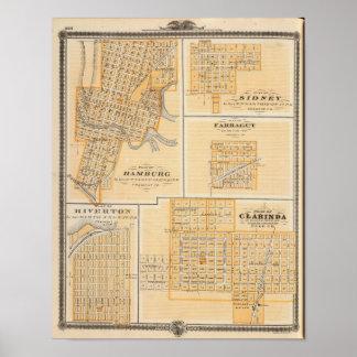 Planes de Hamburgo, Sidney, Farragut Póster