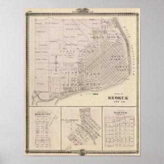 Planes de Keokuk, ciudad del bosque Póster