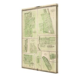 Planes de Maquoketa, Bellevue, Princeton Lona Estirada Galerías