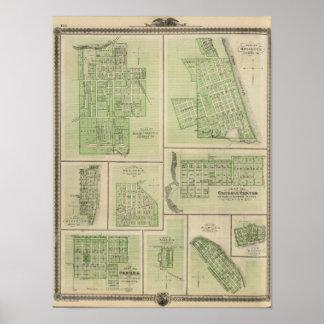 Planes de Maquoketa, Bellevue, Princeton Impresiones