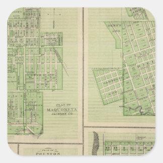 Planes de Maquoketa, Bellevue, Princeton Colcomanias Cuadradases