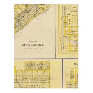 Planes de Muscatine, libertad del oeste Tarjeta Postal