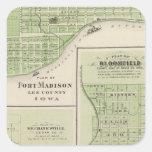Planes del fuerte Madison Colcomanias Cuadradases