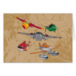 Planes Group Greeting Card