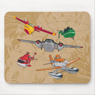 Planes Group Mouse Pad