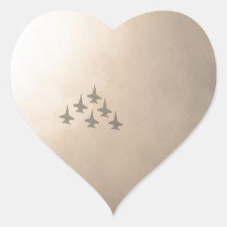 Planes Heart Sticker