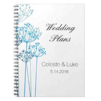 Planes herbarios del boda de la rapsodia libretas