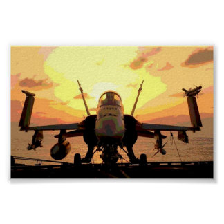 Planes Hornet F A-18 USS John C. Stennis Poster