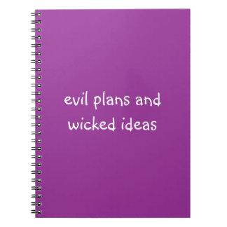 Planes malvados y lema divertido travieso de las i cuaderno