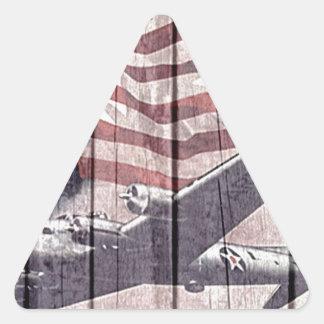 Planes of war triangle sticker