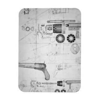 Planes originales para un revólver de la diez-cáma imanes