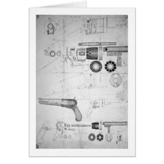 Planes originales para un revólver de la diez-cáma tarjeta de felicitación