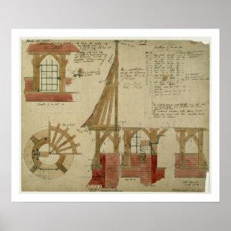 Planes para la casa roja, brezo de Bexley (pluma y Póster