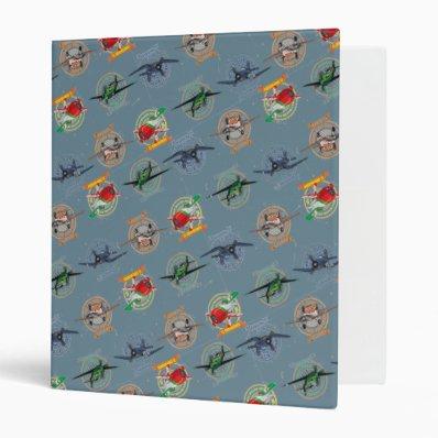 Planes Pattern Vinyl Binders