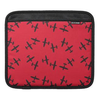 planes red iPad sleeves