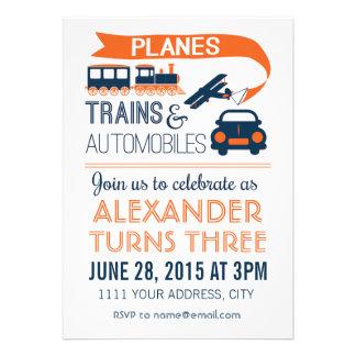 Planes, Trains & Automobiles Invitation Announcements