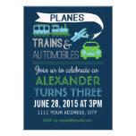 Planes, Trains & Automobiles Invitation Invite