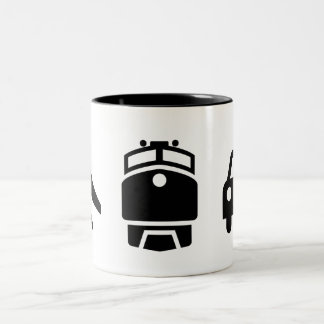 'Planes/Trains/Automobiles' Pictogram Mug