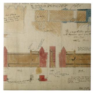 Planes y elevaciones para la casa roja, Bexley Hea Azulejo Cuadrado Grande