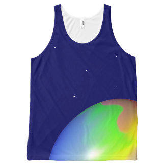 Planet All-Over Print Tank Top