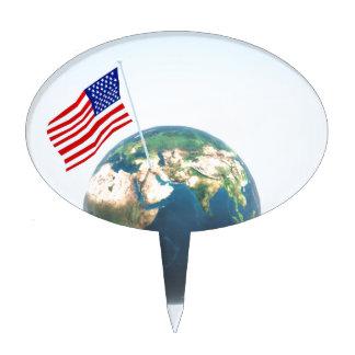 Planet America Cake Topper