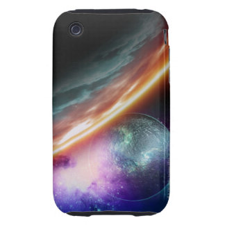 Planet and its moon. Computer artwork of an Tough iPhone 3 Case