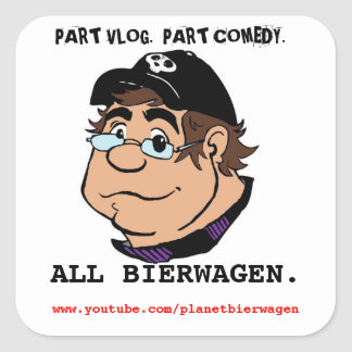 PLANET BIERWAGEN caricature promo sticker