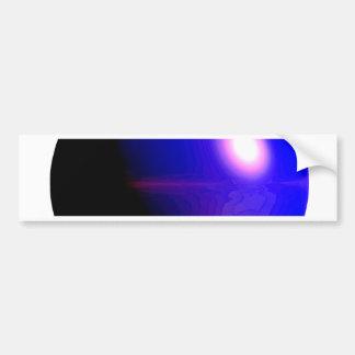 Planet Blue 3D Design Bumper Stickers