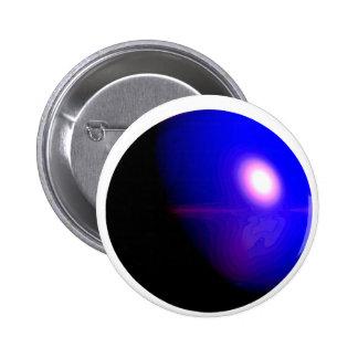 Planet Blue 3D Design Button