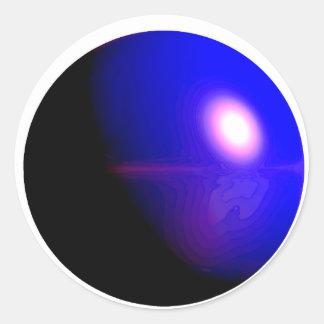 Planet Blue 3D Design Classic Round Sticker