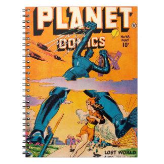 Planet comics no.48 spiral notebook