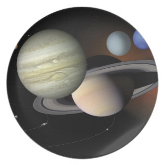 Planet dinner party plates