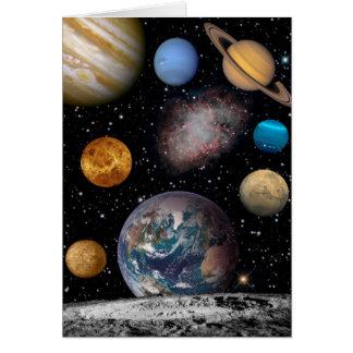 Planet Dreams of the Cosmos - 3 Card