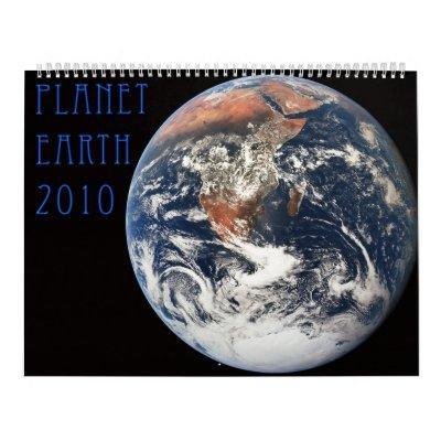 Planet Earth 2010 Calendar